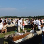 The VIP Crowd at opening day Bridgehampton Polo.