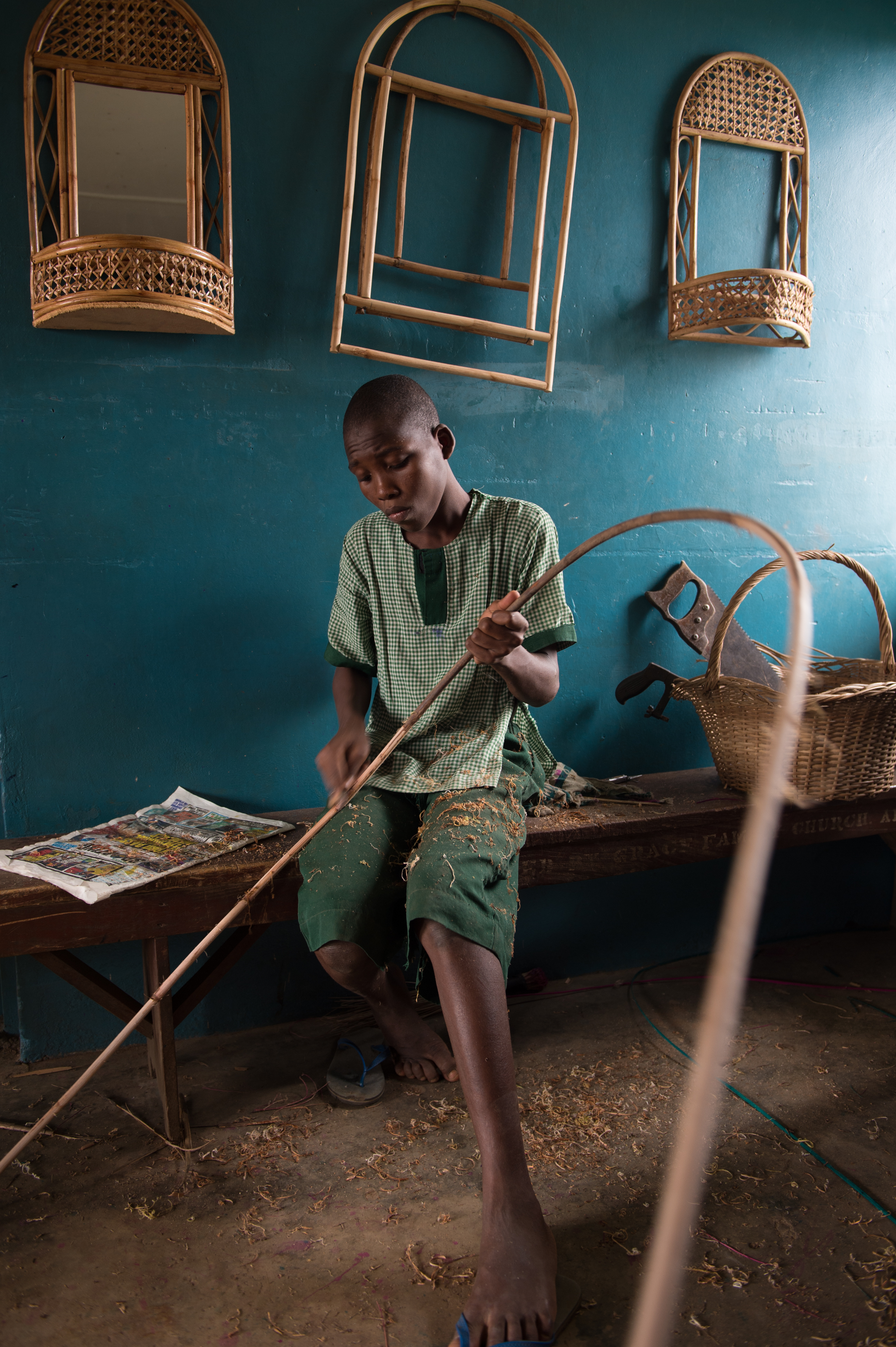 Nigerian School Project.Boy at Ikeja Boys' Correctional School