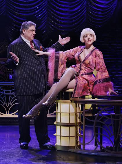 Heléne Yorke as Olive and Vincent Pastore as Nick Valenti inBullets Over Broadway Written by Woody AllenSusan Stroman: Director and ChoreographerCredit Photo: Paul Kolnikstudio@paulkolnik.comnyc 212-362-7778