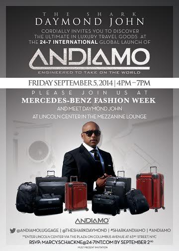 Daymond John Flies High with Andiamo Luxury Luggage - Millennium ...
