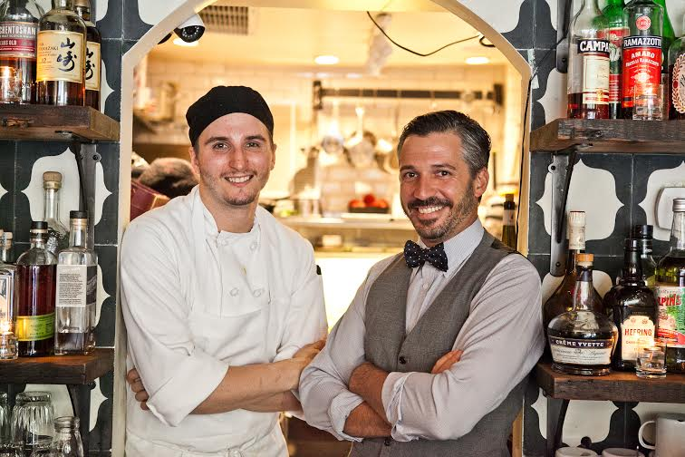 Xavier Herit And Old Friend From Their Days At Daniel Boulud, Wallflower  Executive Chef Michael Gutowski Who Works Wonders In A Shoe Box Size Kitchen .