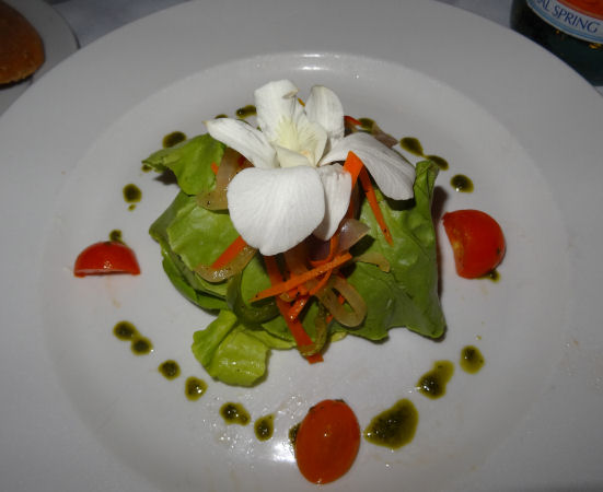 Delish Lotus Lobster Salad prepared by Chef Marco Barilla at his new Manna restaurant in Watermill, NY