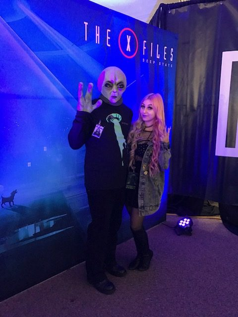 Kid Cadet, Event Moderator and the Alien on Duty at X-Fest 2018