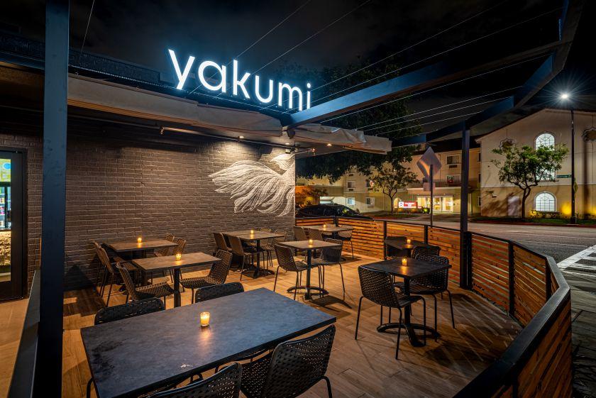 Yakumi's patio and entrance | photo by Wonho Frank Lee