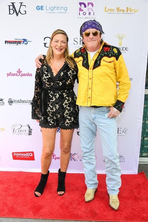 Michael Madsen with Rita Bunch